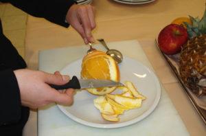 Il taglio dell'arancia